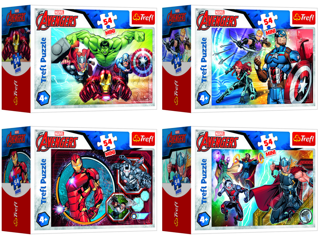 Puzzle mini Disney Marvel The Avengers 54 dílků